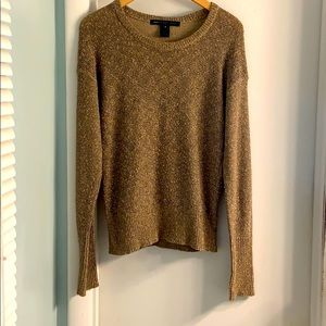 Marc by Marc Jacobs Tan and Metallic Sweater